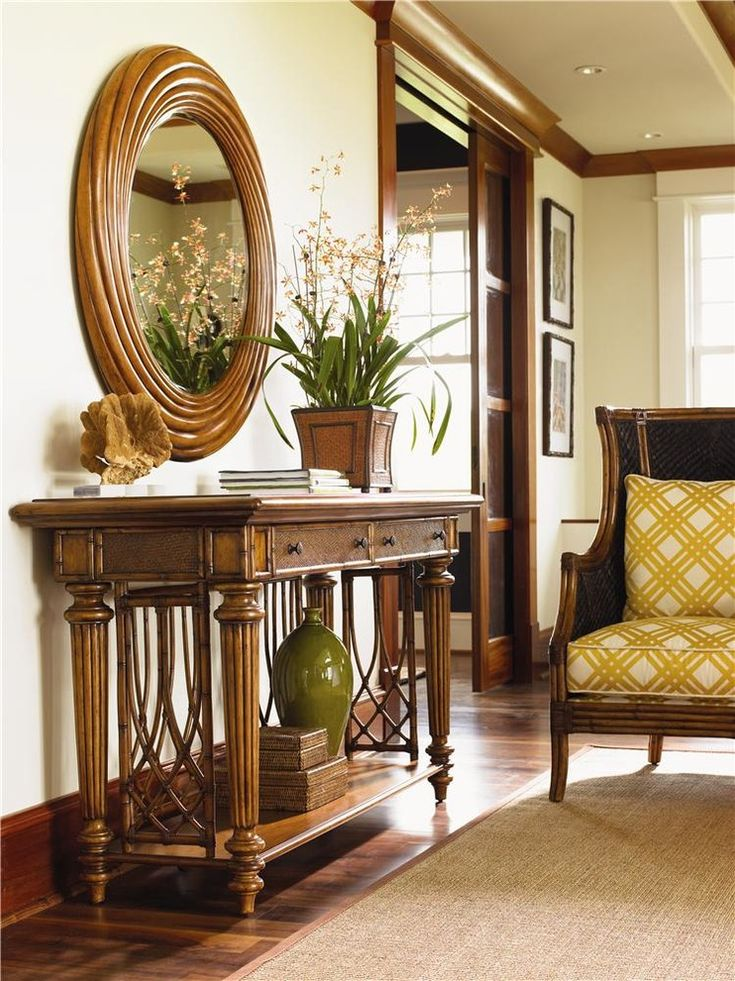 Spectacular Bamboo Console Tables Decorating Ideas Images