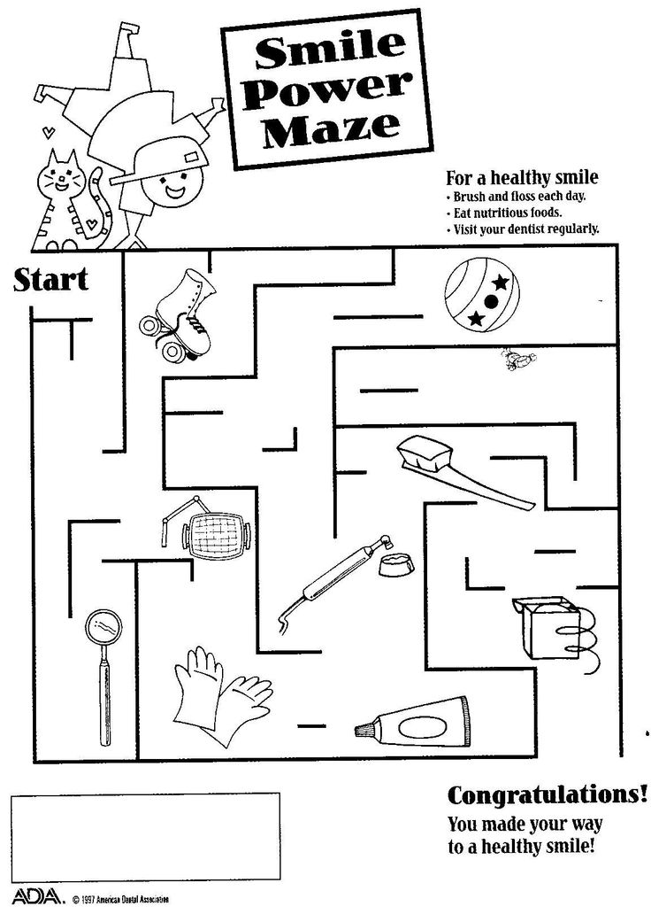 17 Best images about Fun Dental Activity Sheets on