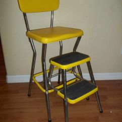 Vintage Kitchen Step Stool Chair Pendant Lights Images 1950's 1960's Yellow Cosco ...