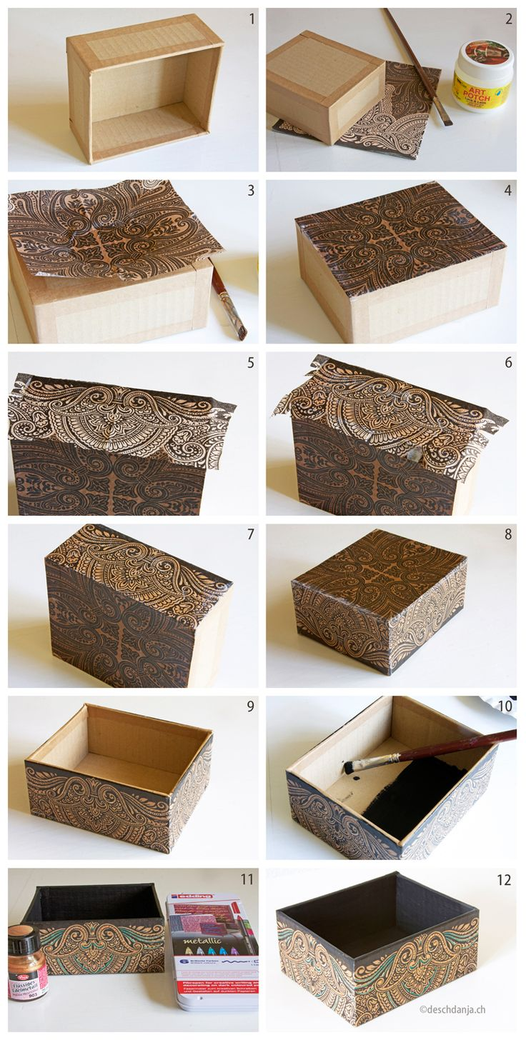 1000 ideas about Decoupage Box on Pinterest  Cigar Box Crafts Decorated Boxes and Decorative