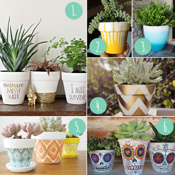 25 Best Ideas About Decorated Flower Pots On Pinterest Mod