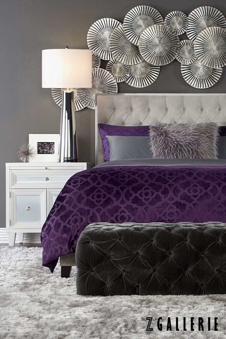 25+ best ideas about Purple bedrooms on Pinterest