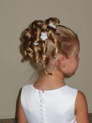 flower girl hairstyles updo
