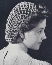 vintage crochet snood hairnet hair