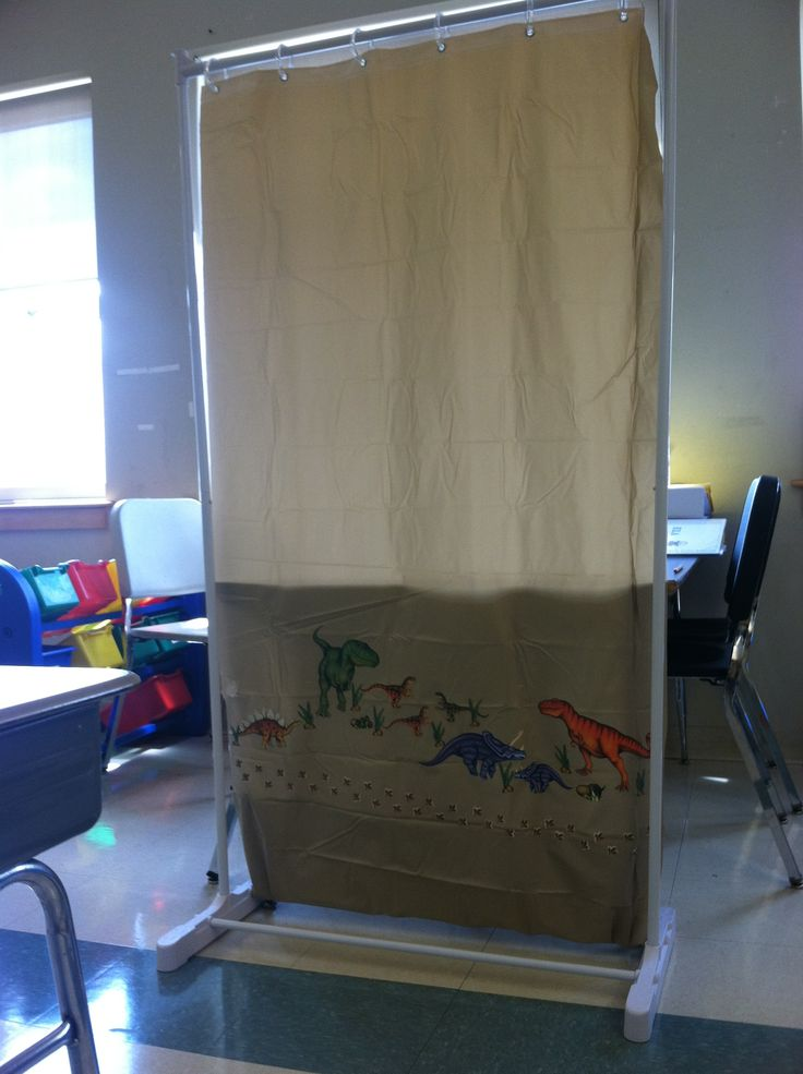 Make Your Own Classroom Divider Who Would Of Thought All You Need Is A Garment Rack Shower