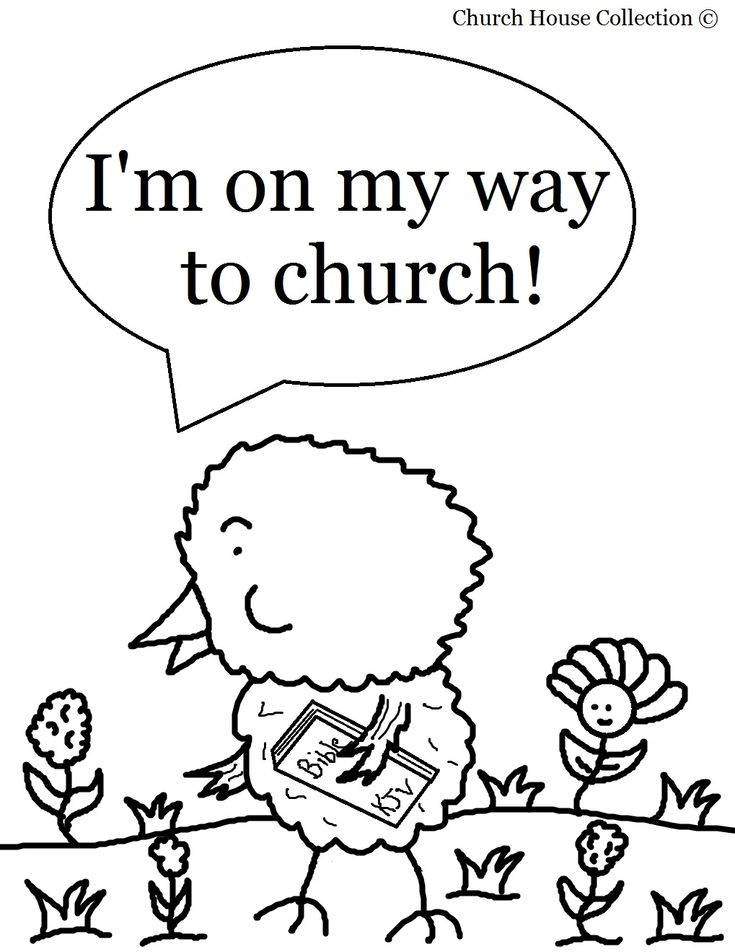 Easter Chick Coloring Page For Sunday School Kids-