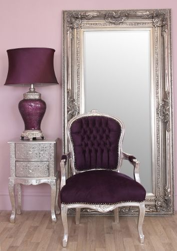 purple velvet sofa bed uk small beds for es 1000+ ideas about shabby chic chairs on pinterest ...
