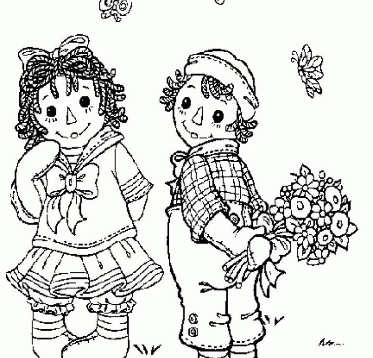 1000+ images about Raggedy Ann & Andy Art Pages on