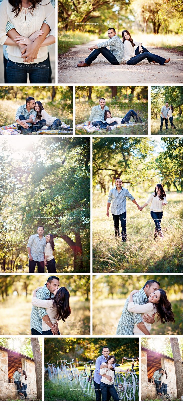 I want an outdoor engagement session with a vintage look. :)