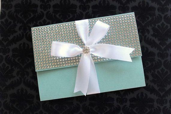 Tiffany Blue Bling Silver and White by AlexandriaLindo on Etsy 1200 weddinginvitations