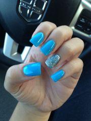 blue nails #blue