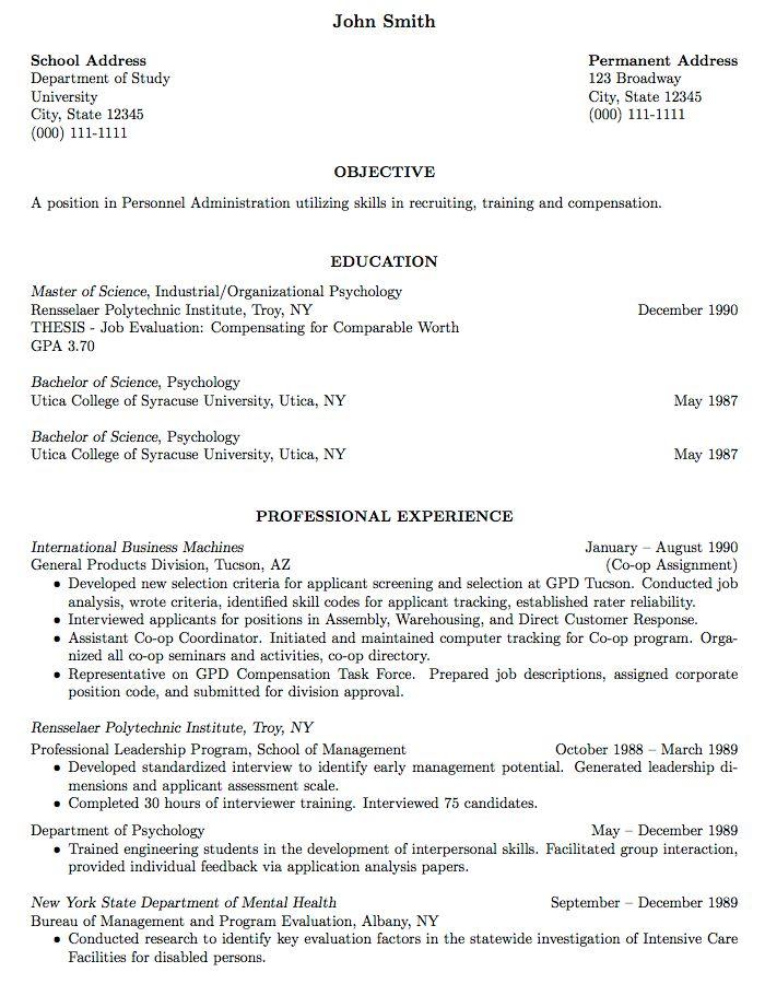 No Job Experience Resume Example Resume Examples Address