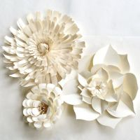 Paper Flower Wall, READY TO SHIP, white paper flower ...