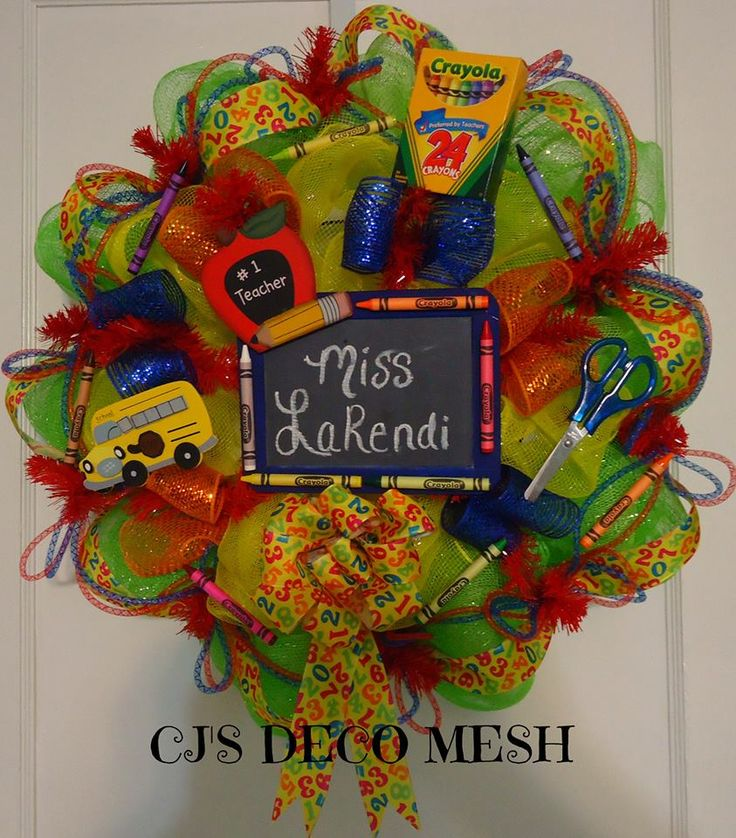 Teacher Deco Mesh Wreathcheck Out My Page On Facebook CJ