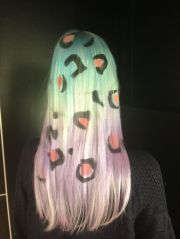 pastel ombre hair with leopard