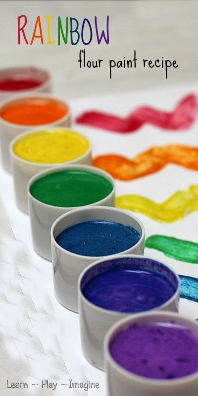 Super simple homemade paint recipe in gorgeous, vibrant colors!  The texture is smooth and silky, perfect for using brushes or