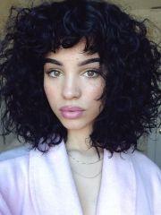 1000 ideas bangs curly hair