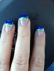 seahawks nails nail art