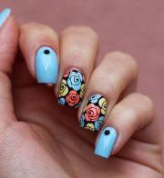 rose nail design ideas