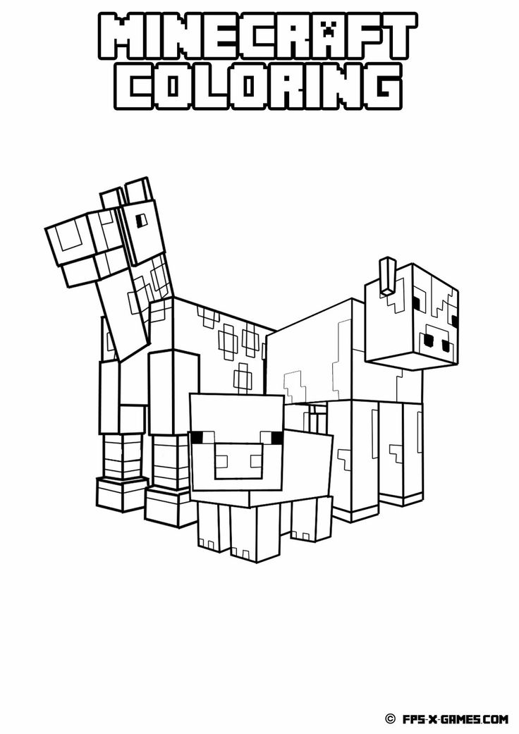 10 Best images about MineCraft Coloring pages on Pinterest
