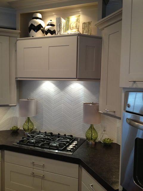 tile backsplash ideas for kitchen handmade table 2x6 subway chevron pattern | kitchens pinterest ...
