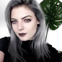 Black Hair With Silver Linings Dark Brown Hairs Of Silver