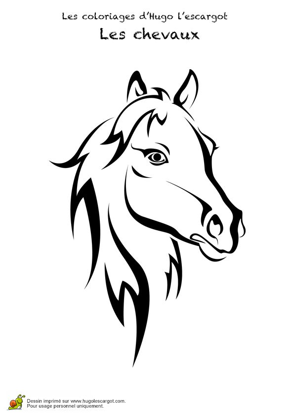 dessin simple cheval