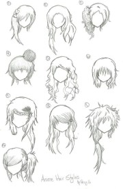 1000 ideas anime hairstyles