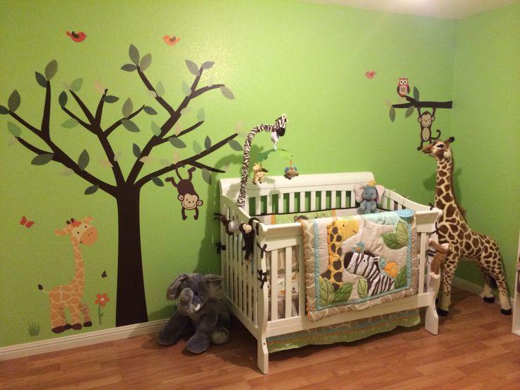 Cute Boy Themed Wallpaper Jungle Theme Nursery Caydens Room Pinterest Jungle