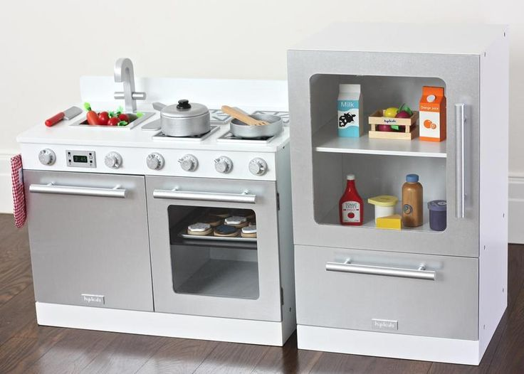 Kids Gourmet Toy Kitchens  childrens white play ovens