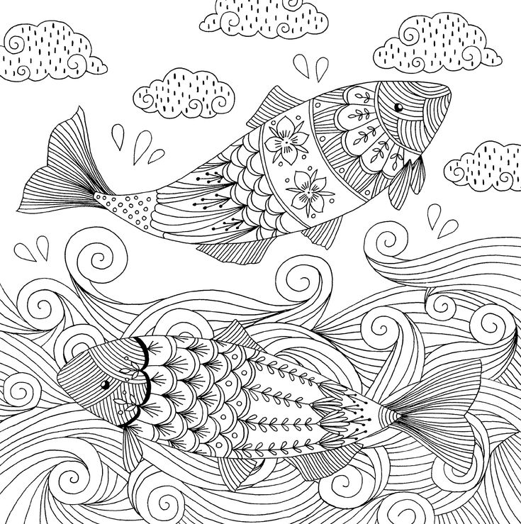 78+ images about Under the Sea Coloring Pages for Adults