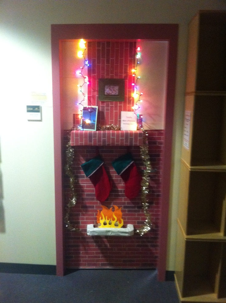 Aarons office door decorated for his door decorating contest turned out pretty sweet  Things