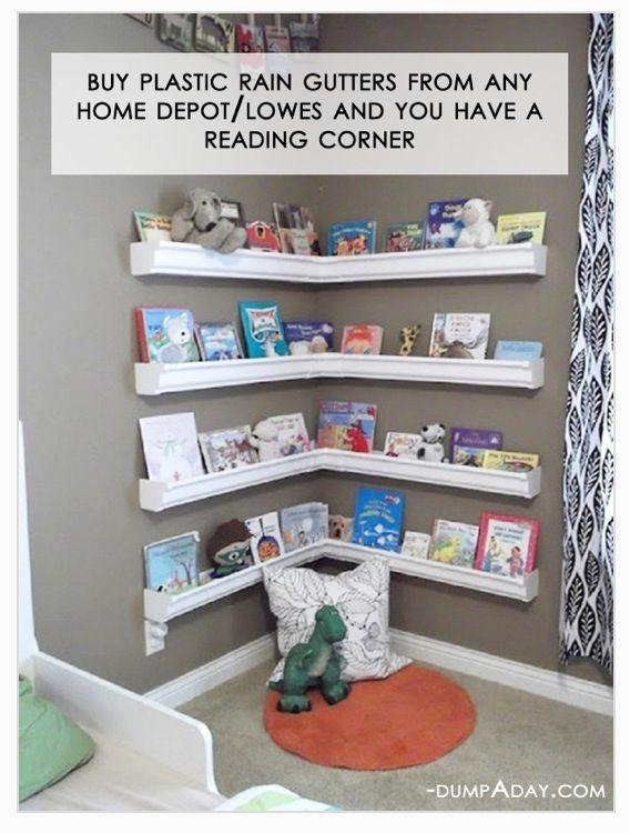 Easy Cheap Diy Reading Bookshelf Area  To Do For Home