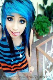 #blue & #black #hair hair color