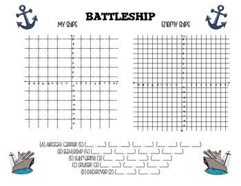 Battleship Worksheet For 4 Quadrants Time « The Best 10