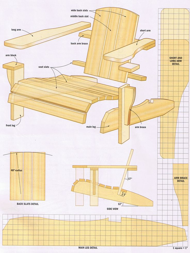 Fine Woodworking Adirondack Chair Plans  WoodWorking