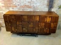 Vintage Lane Furniture Mid Century Modern Cubist Mosaic ...