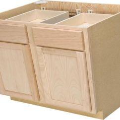 Kitchen Base Cabinets Unfinished Porcelain Tile Floor Quality One 36