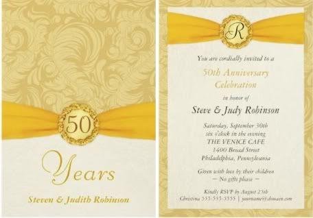 Por Wedding Invitation Blog Golden Anniversary