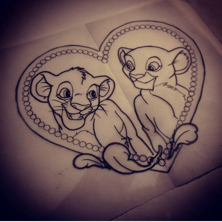 The Lion King Tattoo  Tattoo Ideas Pinterest