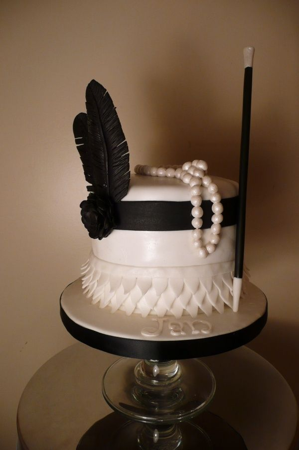 1920s themed Cake  Party Ideas  Pinterest  Themed cakes and Cakes