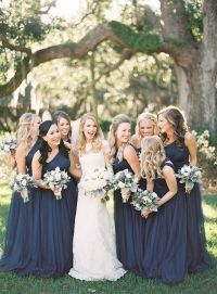 25+ best ideas about Navy Bridesmaids on Pinterest | Navy ...