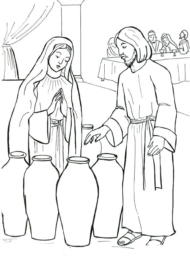 Jesus and Mary at the wedding feast of Cana Catholic