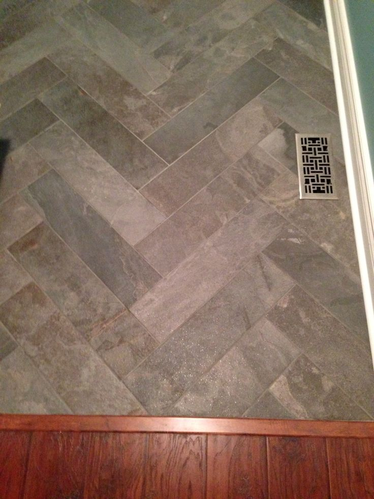 remodeling a kitchen on budget wood counters my herringbone floors! ️ 6x24 tile | facelift ...