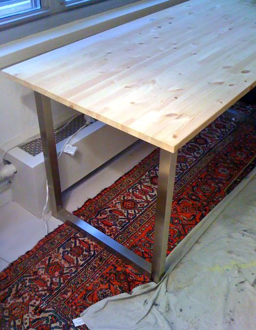 cheap kitchen island ideas herringbone backsplash easy diy desk with ikea table tops and legs   vintage ...