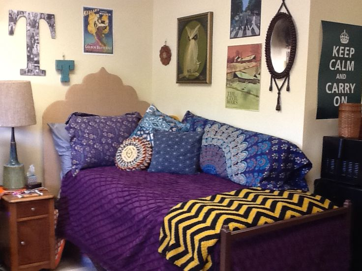Daughters boho dorm room Urban outfitters bedspread and