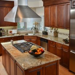 Kitchen Islands Ideas Solid Wood Ready To Assemble Cabinets We Stripped, Re-stained And Sealed The Existing Maple ...