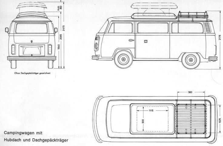 43 best images about VW T2 line drawings on Pinterest