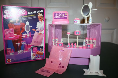 vintage living room sets simple small decorating ideas details about 1982 barbie dream store makeup ...