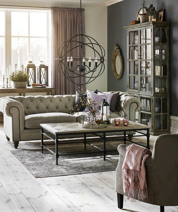 small grey sofa sectionals ikea chester delux 3-sits soffa i tyg natur   vardagsrum ...